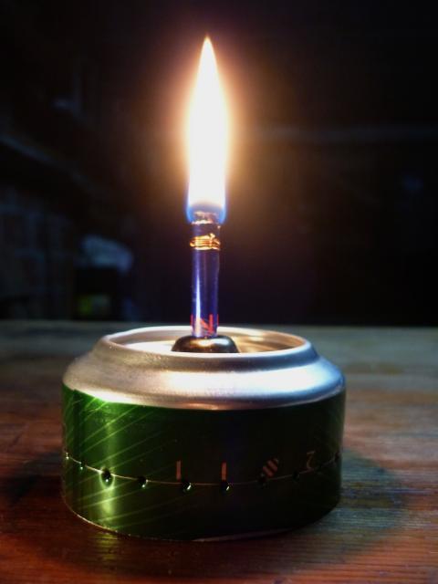 Lampe à huile maison