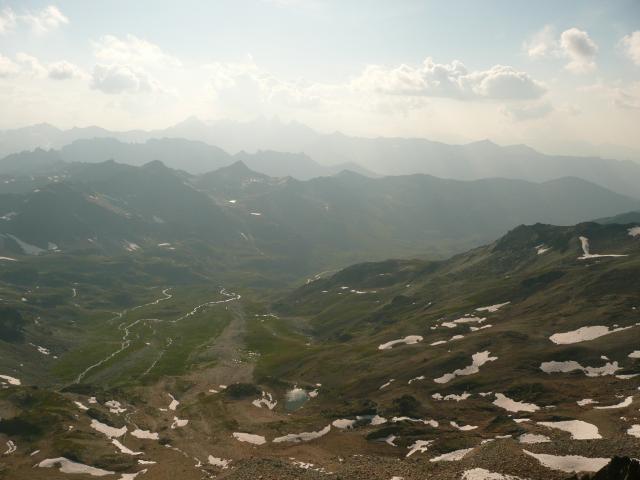 La vallée que j'emprunterais le lendemain.