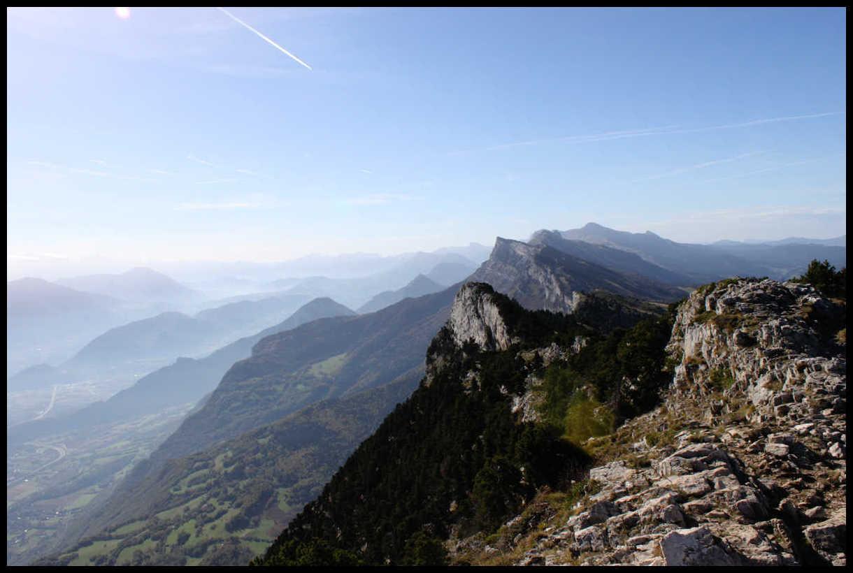 La suite du parcours : crête jusqu'au pic St Michel