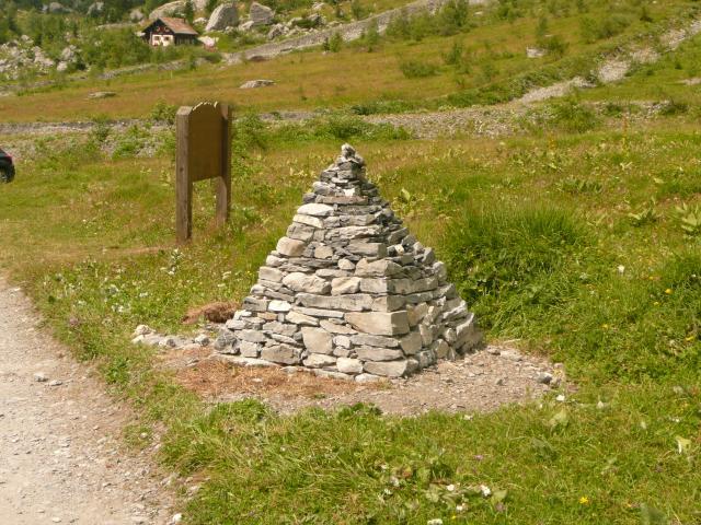 Le cairn de Gizeh.